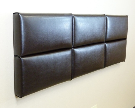 Items similar to Queen Upholstered Headboard in Chocolate ...
