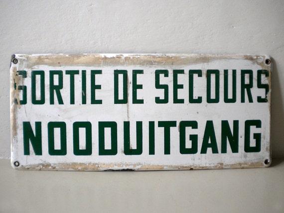 Belgian Metal Sign