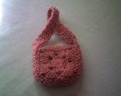 The Crochet Dark Pink Doll Purse