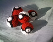 Pokeball Cat Toys-Cat Toy Balls- Cat Toys- Catnip- Jingle ball