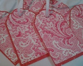 Pink Paisley gift tags by Tag Me Chic