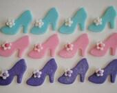 Fondant Cupcake Topper Princess Shoe - Storybook Princess  Cinderella Slipper Style