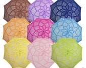 Colorfull parasols, chose your colour and design, unusual and amazing wedding gift, MADE to ORDER