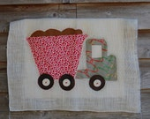 16x20 Dump Truck Fabric Art with FREE personalization