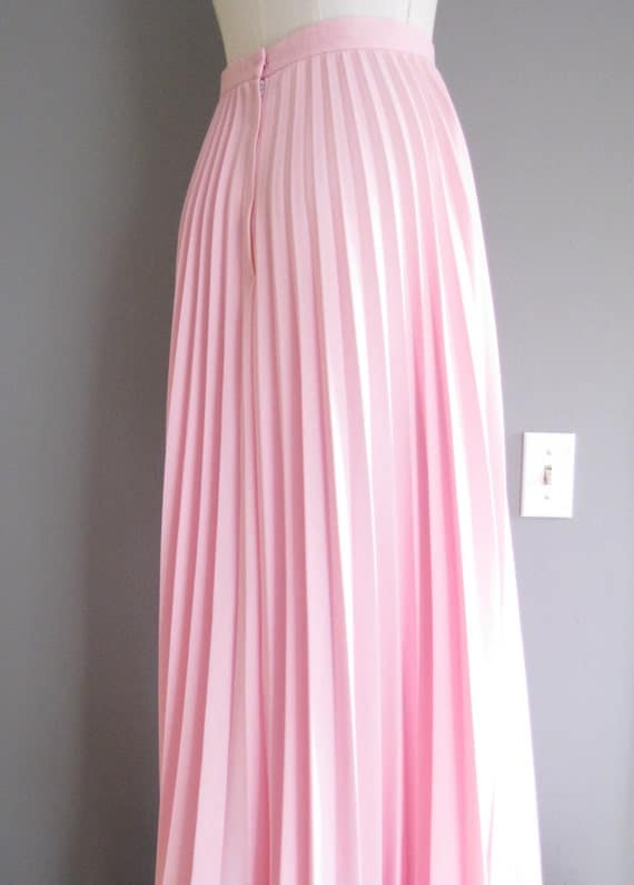 items similar to 1970s maxi skirt alfred shaheen pale pink