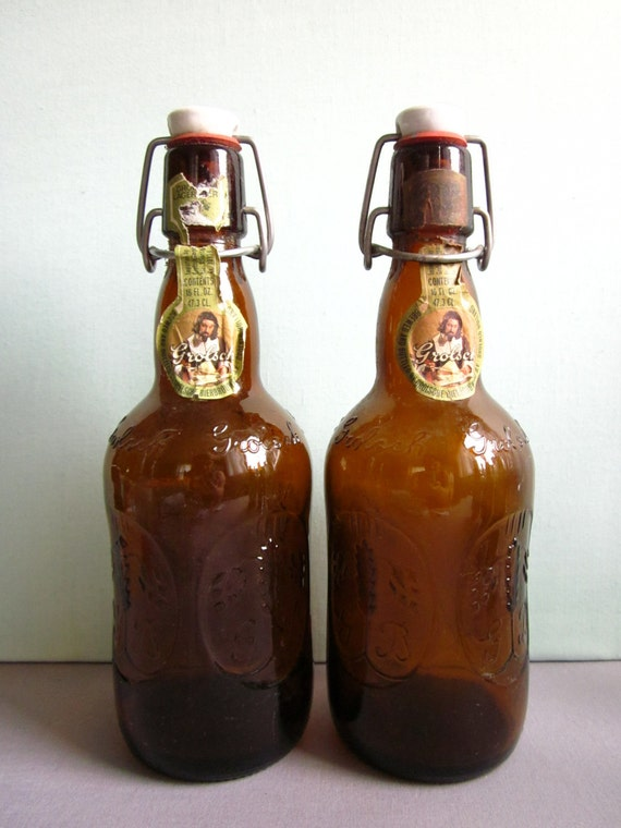 Brown Glass Bottles With Stoppers