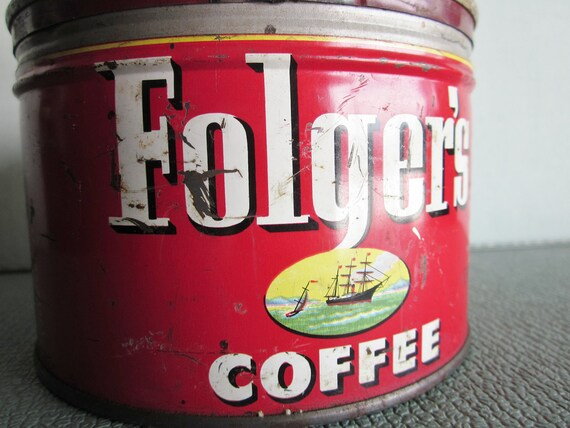 Vintage Folgers Coffee can or tin
