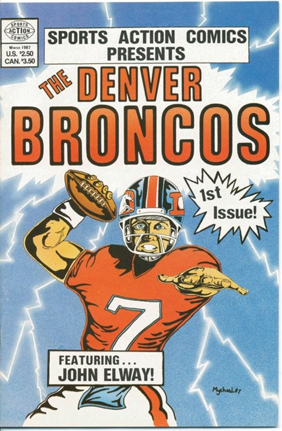 John Elway The Denver Broncos Comic - Vintage 1987 1st Issue - Free Shipping
