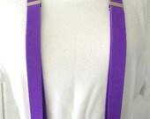 vintage suspenders 80s bright purple skinny suspenders  preppy prom