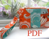 Wristlet PDF PURSE Sewing Pattern, Thumbprint Patterns, Clutch, Purse, Wallet, Ebook, Tutorial