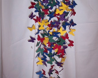 Large Jewel Tone Butterfly Mobile