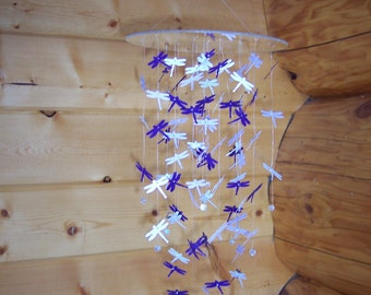 Shades of Purple Dragonfly Mobile