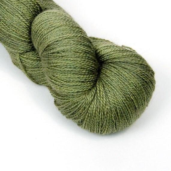 Delicious Silk/Camel Lace in Grasshopper
