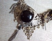 Reserved For Debra Steampunk Charm Necklace Victorian Skeleton Key SEE FACEBOOK For DisCOUNT