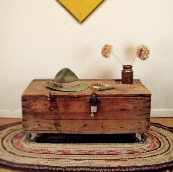Circa 1910 Industrial Coffee Table Repurposed Carpenters Tool