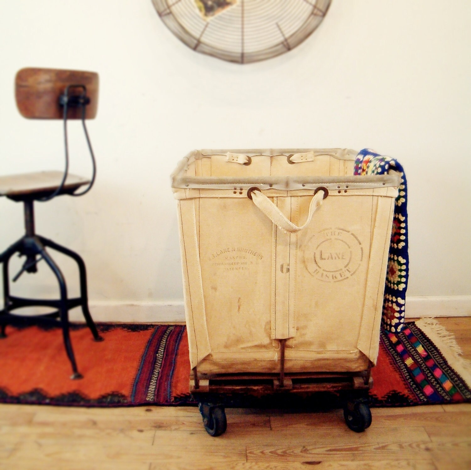circa 1940 vintage industrial laundry cart lane 6