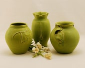 Sale  Catalog Group in Granny Smith Green by Door Pottery-Arts and Crafts Style-Handmade Art Pottery