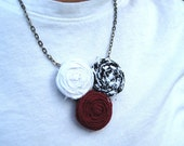 Roll Tide Triple Posie Necklace