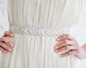 HANABI - Metallic Bullion Embroidered Bridal Wedding Belt