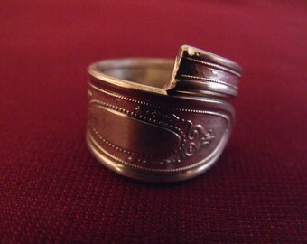 Silver Plated Spoon Ring Size 7 Seven  US Antique