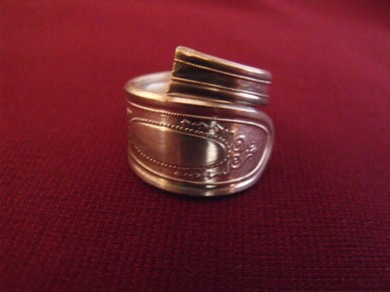 Silver Plated Spoon Ring Size 6 Six  US Antique