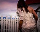 Waterfall Lace Wedding Dress