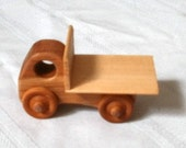 Small flatbed truck handcrafted hardwood