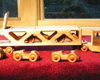 Car Carrier Handcrafted Wooden