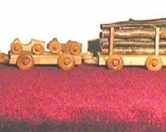 Handcrafted Wooden 6 Car Train