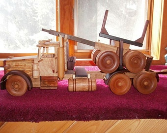 Western Star Logging Truck Handcrafted Wooden
