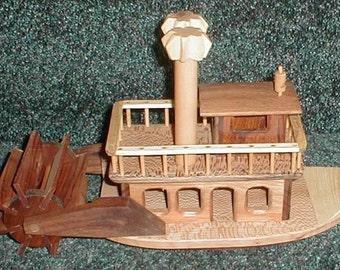Paddle boat - handcrafted hardwood