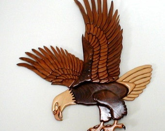 Bald Eagle handcrafted in intarsia