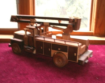 Construction Bucket Truck Handcrafted Wooden