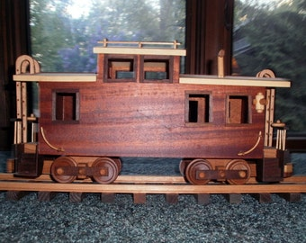 Train Caboose Wooden Collectible handcrafted
