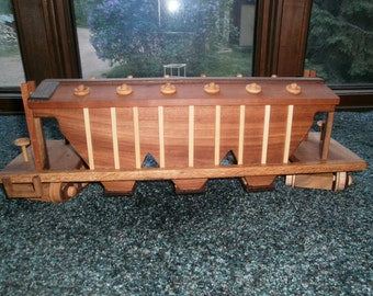 Hopper Train Car Wooden Collectible handcrafted