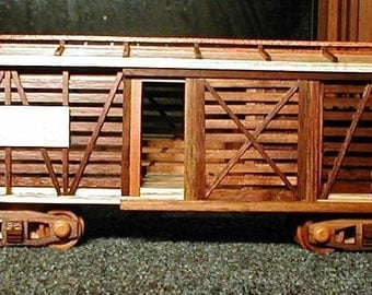 Cattle Train Car Wooden Collectible handcrafted