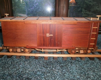 Train Box Car Wooden Collectible handcrafted