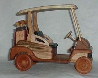 Golf Cart Handcrafted Wooden Deluxe