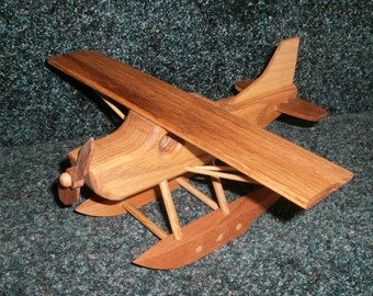 Pontoon Plane Handcrafted Wood