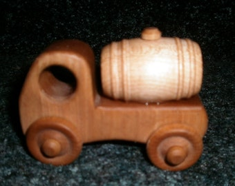Wooden Tanker Truck Handcrafted