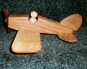 Single wing vintage airplane handcrafted