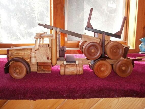 Western Star Logging Truck Handcrafted Wooden