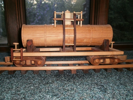 Tanker Train Car Wooden Collectible handcrafted