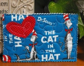 Unique Quilted Postcard -Love in the Mail - Dr Seuss Cat in the Hat