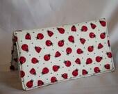 Ladybug Checkbook Cover - Fabric Checkbook Cover