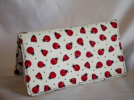 Ladybug Checkbook Cover - Fabric Checkbook Cover