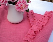 Pink Burlap Table Runner Valentines Day Decorations Baby Shower Decorations Girls Room Decor Bridal Shower Decor Shabby Chic Home Decor