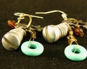 industrial chic  earrings with metal screws