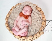 Crochet Baby Bowtie (adjustable - you choose color - chart inside)