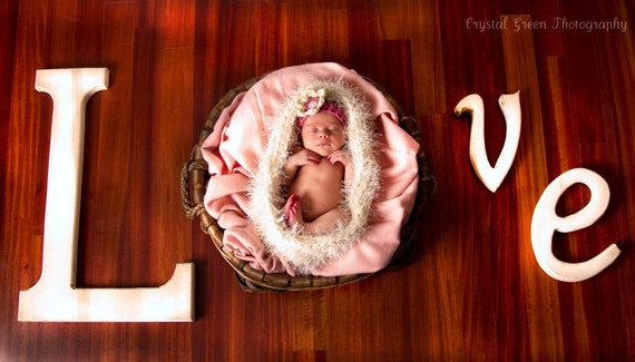 SALE - Newborn Photography prop nest fuzzy baby nesting bowl in ivory or any color - great photo prop